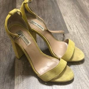 Steve Madden Carrrson yellow suede